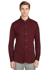 Brooks Brothers Long-Sleeve Pique Polo