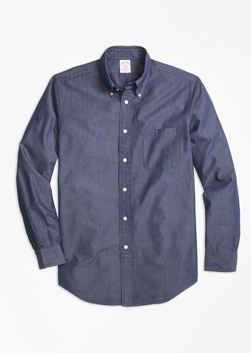 Brooks Brothers Madison Fit Seersucker Sport Shirt