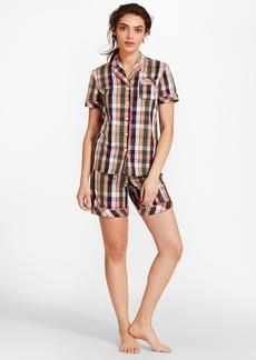 Brooks Brothers Madras Cotton Poplin Pajamas