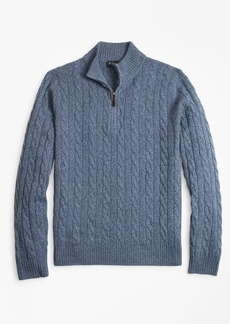 Brooks Brothers Marled Cable Half-Zip