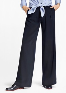 Brooks Brothers Matte Satin Wide-Leg Pants