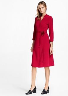 Brooks Brothers Matte Satin Wrap Dress