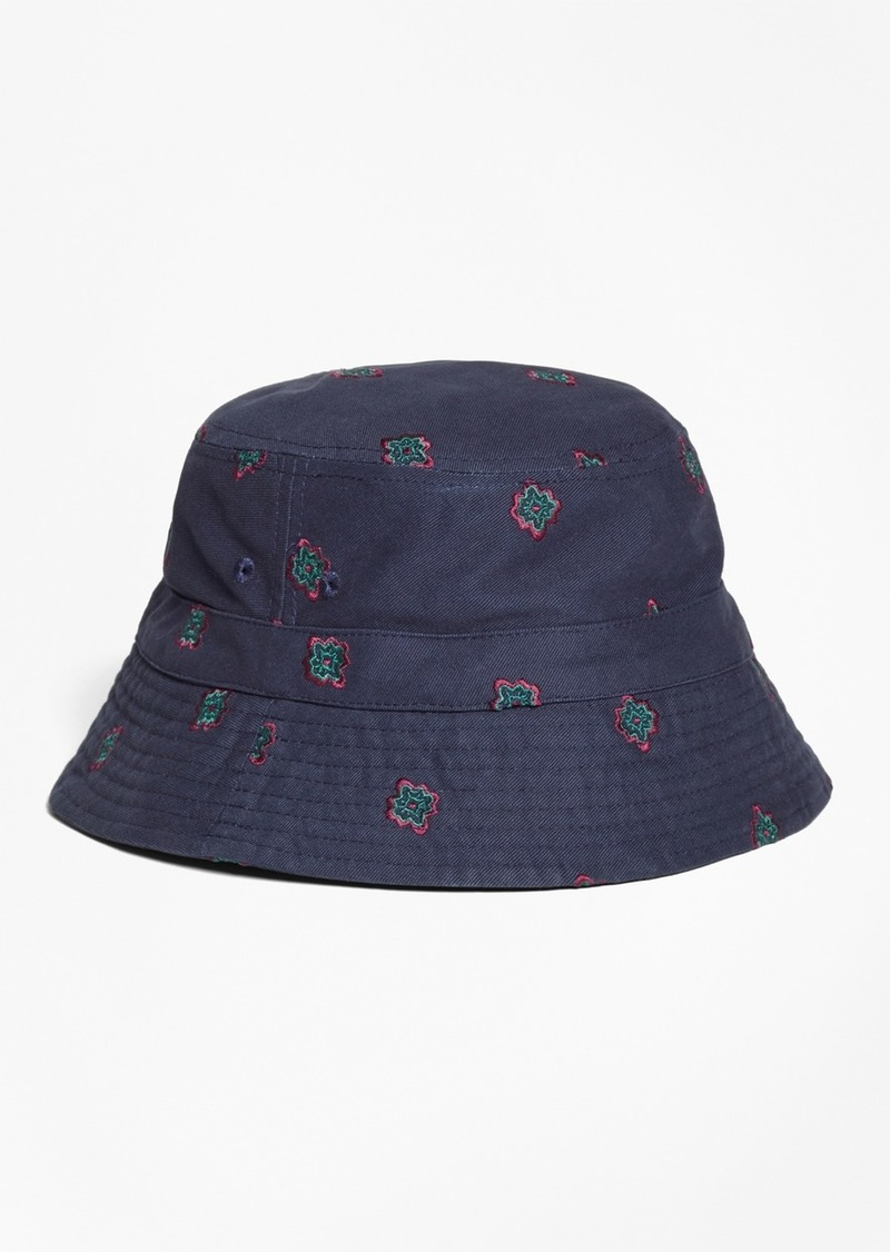 278e2315be2 Brooks Brothers Medallion-Embroidered Bucket Hat