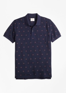 Brooks Brothers Medallion-Print Cotton Pique Polo Shirt