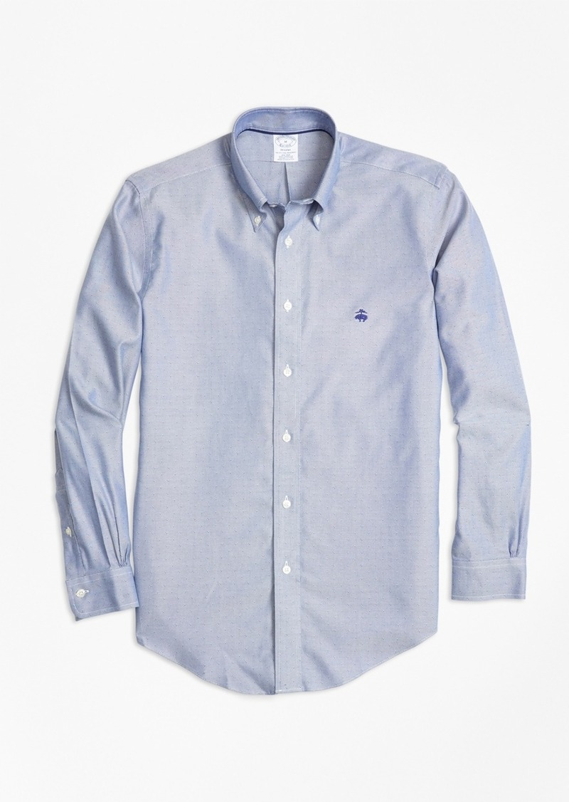 Brooks brothers non iron regent fit dobby sport shirt for Brooks brothers sports shirts