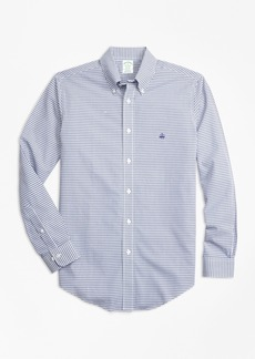 Brooks Brothers Non-Iron Milano Fit Dobby Check Sport Shirt