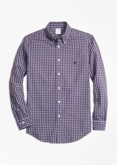 Brooks Brothers Madison Fit Brushed Oxford Gingham Sport Shirt