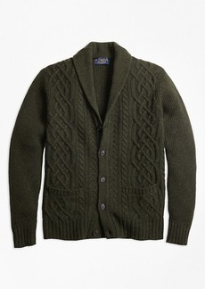 Braemar™ for Brooks Brothers Cable Shawl Collar Cardigan