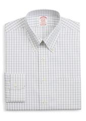 Men's Big & Tall Brooks Brothers Madison Classic Fit Stretch Windowpane Dress Shirt