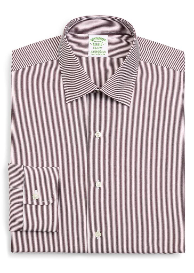 Men's Brooks Brothers Madison Trim Fit Stripe Dress Shirt