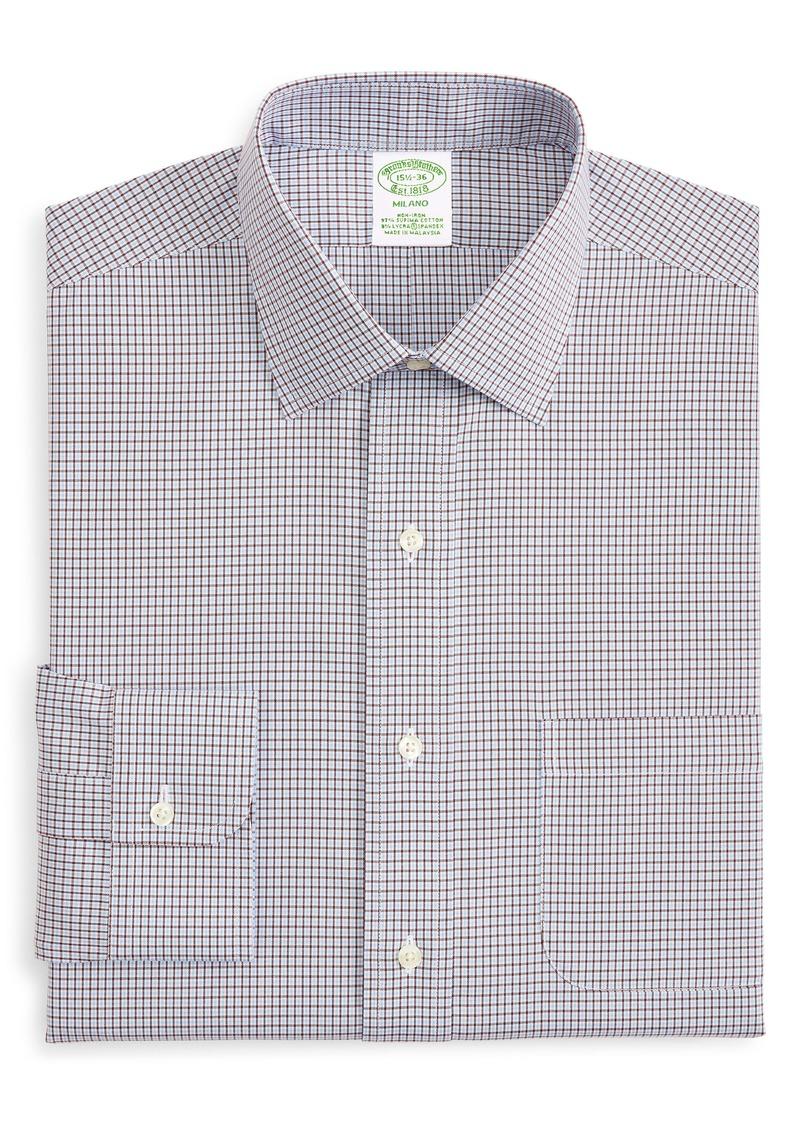 Men's Big & Tall Brooks Brothers Milano Trim Fit Check Dress Shirt