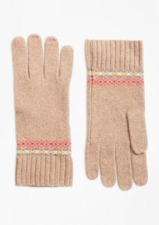 Brooks Brothers Merino Wool-Blend Fair Isle Gloves