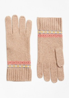 Brooks Brothers Merino Wool-Blend Fair Isle Gloves