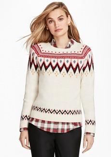Brooks Brothers Merino Wool-Blend Fair Isle Sweater