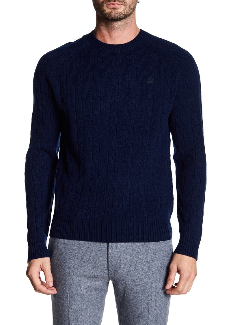 Brooks Brothers Merino Wool Cable Knit Sweater