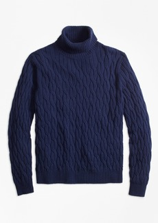 Brooks Brothers Merino Wool Cable Turtleneck Sweater