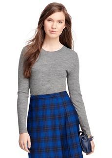 Brooks Brothers Merino Wool Ribbed Crewneck Sweater