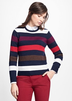 Brooks Brothers Merino Wool Striped Sweater
