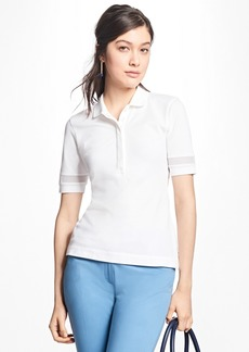 Brooks Brothers Mesh-Trimmed Stretch-Cotton Pique Polo