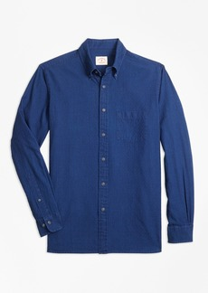 Brooks Brothers Micro-Gingham Cotton Dobby Sport Shirt