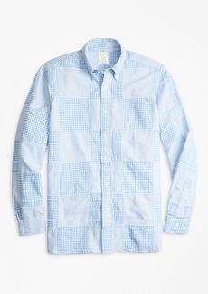 Brooks Brothers Milano Fit Patchwork Seersucker Sport Shirt