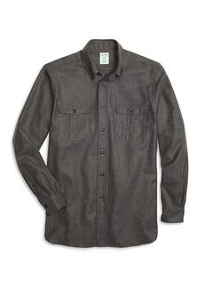Brooks Brothers Milano Fit Saxxon Wool Sport Shirt
