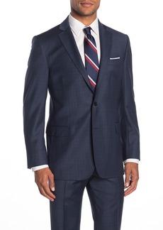 Brooks Brothers Navy Check Two Button Notch Lapel Regent Fit Suit Separates Jacket