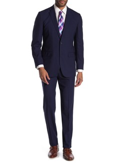 Brooks Brothers Navy Pinstripe Two Button Notch Lapel Wool Milano Fit Suit
