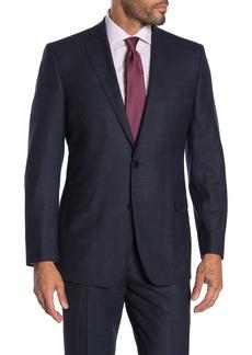 Brooks Brothers Navy Plaid Two Button Notch Lapel Suit Separates Blazer