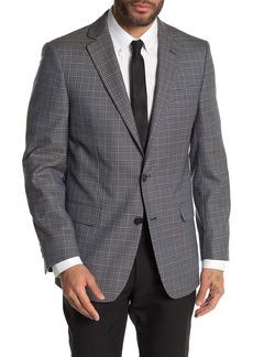 Brooks Brothers Navy Plaid Two Button Notch Lapel Wool Regent Fit Sport Coat