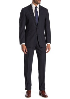 Brooks Brothers Navy Shadow Stripe Two Button Notch Lapel Wool Blend Regent Fit Suit