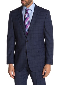Brooks Brothers Navy Windowpane Two Button Notch Lapel Regent Fit Suit Separates Jacket