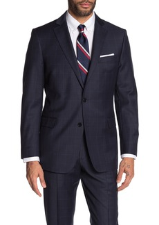 Brooks Brothers Navy Windowpane Two Button Notch Lapel Regent Fit Suit Separates Sport Coat