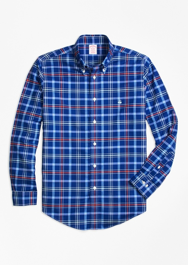 Brooks Brothers Non-Iron BrooksCool® Madison Fit Plaid Sport Shirt