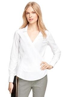 Brooks Brothers Non-Iron Cotton Faux Wrap Dress Shirt