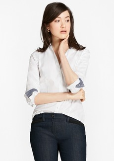 Brooks Brothers Non-Iron Fitted Striped Cotton Poplin Shirt
