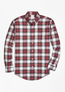 Brooks Brothers Non-Iron Madison Fit Dress Stewart Tartan Sport Shirt