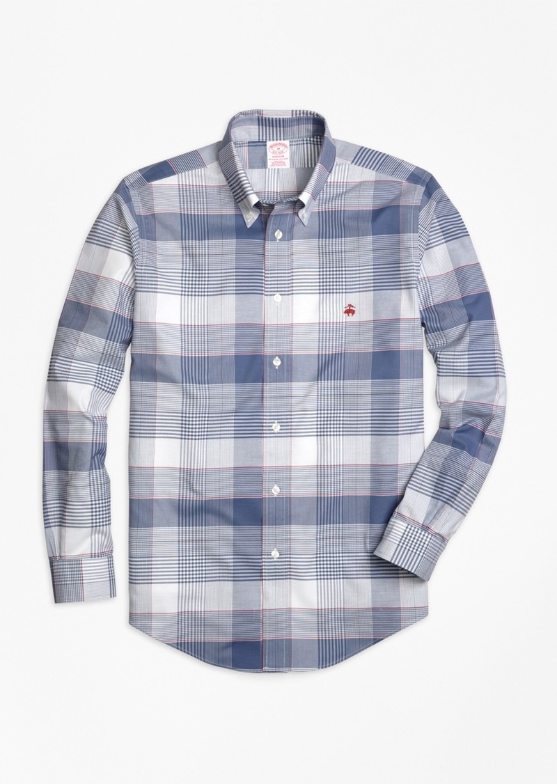 Brooks Brothers Non-Iron Madison Fit Glen Plaid Sport Shirt