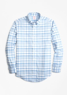 Brooks Brothers Non-Iron Madison Fit Tonal Plaid Sport Shirt