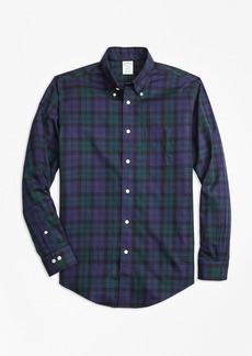 Brooks Brothers Non-Iron Milano Fit Black Watch Tartan Sport Shirt