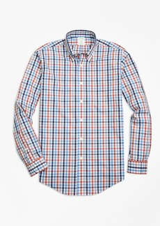 Brooks Brothers Non-Iron Milano Fit Heathered Multi-Gingham Sport Shirt
