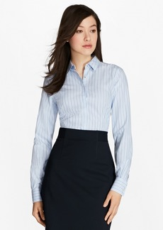 Brooks Brothers Non-Iron Multi-Stripe Cotton Poplin Fitted Dress Shirt