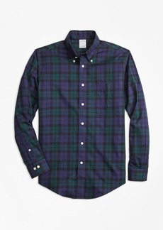 Brooks Brothers Non-Iron Regent Fit Black Watch Tartan Sport Shirt