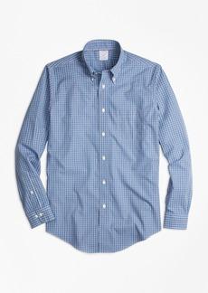 Brooks Brothers Non-Iron Regent Fit Blue Mini-Check Sport Shirt