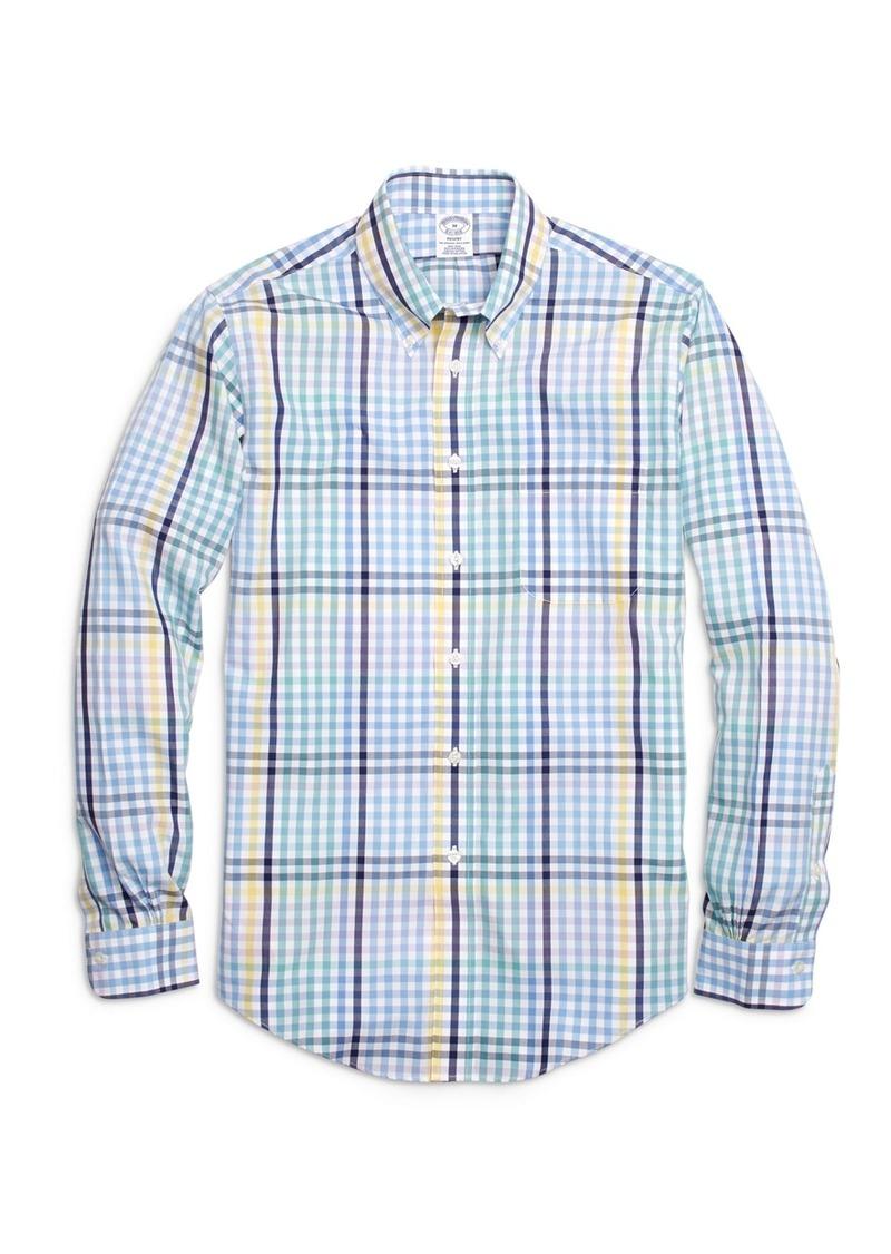 6016eb667d3 Brooks Brothers Non-Iron Regent Fit Multi Gingham Sport Shirt ...