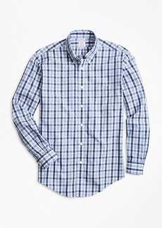 Brooks Brothers Non-Iron Regent Fit Outline Check Sport Shirt