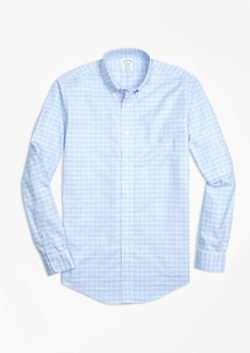 Brooks Brothers Non-Iron Regent Fit Slub Windowpane Sport Shirt