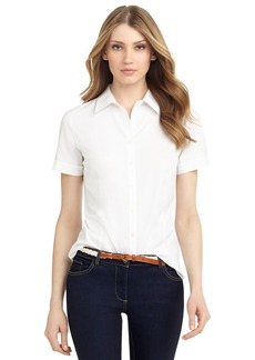 Brooks Brothers Non-Iron Tailored-Fit Short-Sleeve Dress Shirt