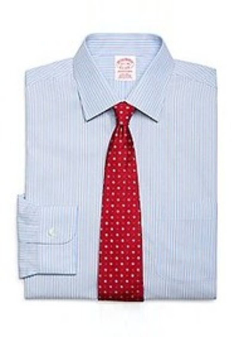 Brooks brothers non iron traditional fit split stripe for Brooks brothers dress shirt fit