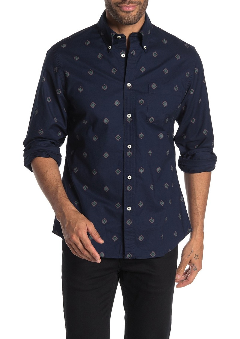 Brooks Brothers Paisley Long Sleeve Regent Fit Shirt